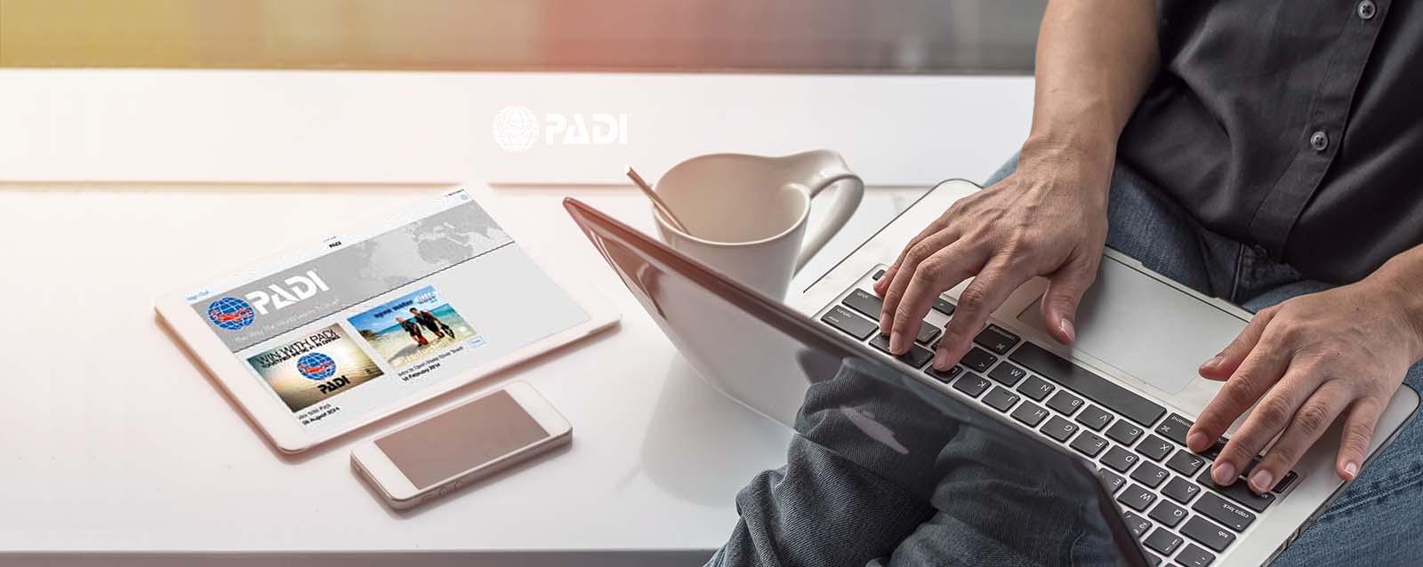 自宅でPADIオンライン学習