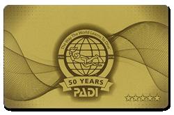 ダイビングインストラクターセンター伊豆はゴールドカード